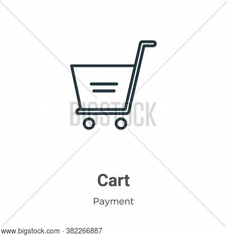 Cart icon isolated on white background from ecommerce collection. Cart icon trendy and modern Cart s