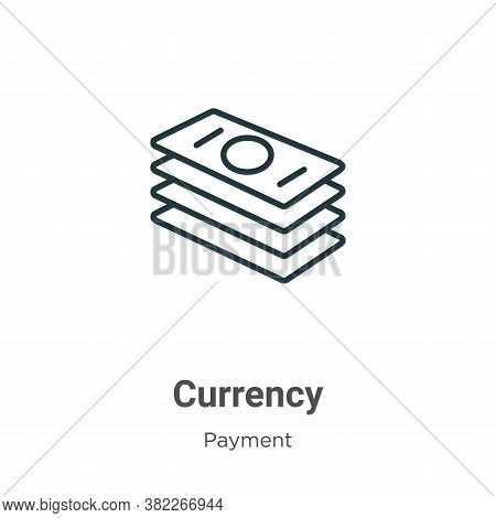 Currency icon isolated on white background from payment collection. Currency icon trendy and modern