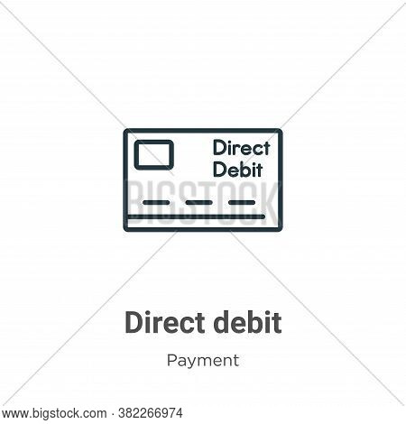 Direct debit icon isolated on white background from payment collection. Direct debit icon trendy and