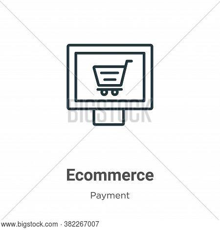 Ecommerce icon isolated on white background from ecommerce collection. Ecommerce icon trendy and mod