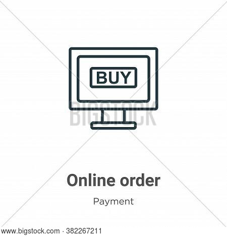 Online order icon isolated on white background from ecommerce collection. Online order icon trendy a