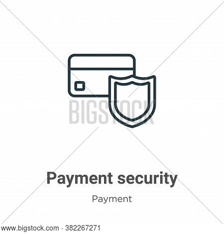 Payment security icon isolated on white background from ecommerce collection. Payment security icon