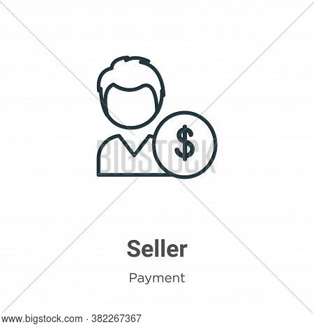 Seller icon isolated on white background from ecommerce collection. Seller icon trendy and modern Se