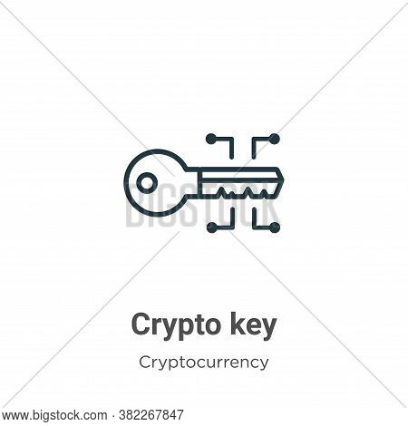 Crypto key icon isolated on white background from cryptocurrency collection. Crypto key icon trendy