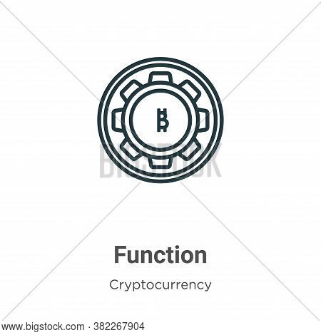 Function icon isolated on white background from cryptocurrency collection. Function icon trendy and