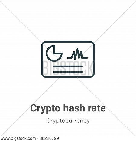 Crypto hash rate icon isolated on white background from cryptocurrency collection. Crypto hash rate