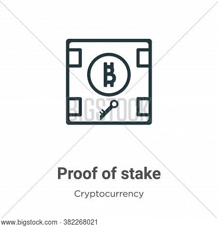 Proof Of Stake Icon From Cryptocurrency Collection Isolated On White Background.