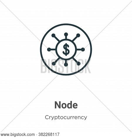 Node icon isolated on white background from cryptocurrency collection. Node icon trendy and modern N