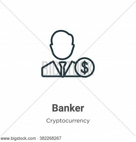 Banker icon isolated on white background from economyandfinance collection. Banker icon trendy and m