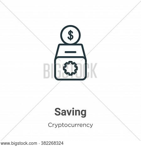 Saving icon isolated on white background from economyandfinance collection. Saving icon trendy and m