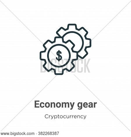 Economy gear icon isolated on white background from economyandfinance collection. Economy gear icon