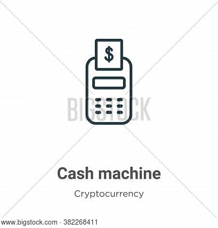 Cash machine icon isolated on white background from economyandfinance collection. Cash machine icon