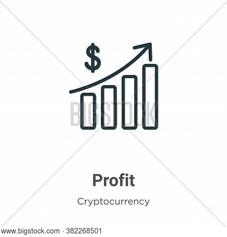 Profit icon isolated on white background from economyandfinance collection. Profit icon trendy and m