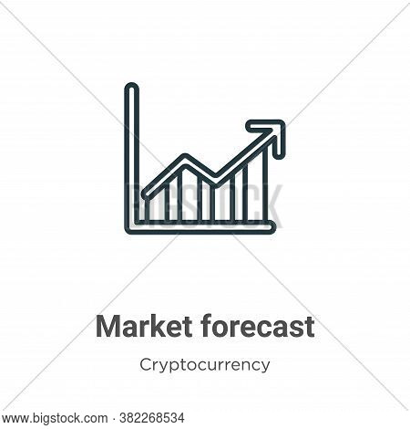 Market forecast icon isolated on white background from economyandfinance collection. Market forecast