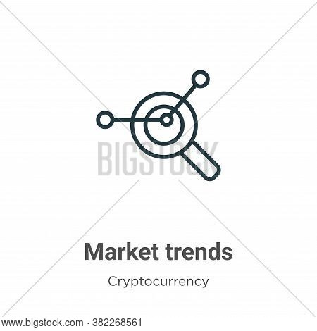 Market trends icon isolated on white background from economyandfinance collection. Market trends ico
