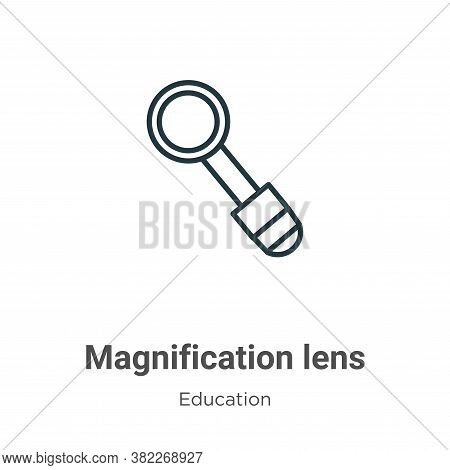 Magnification Lens Icon From Education Collection Isolated On White Background.