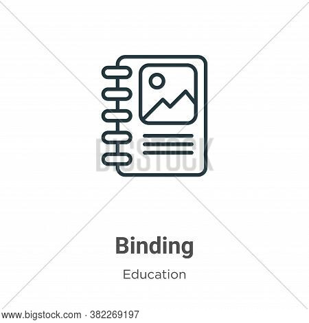 Binding Icon From Education Collection Isolated On White Background.