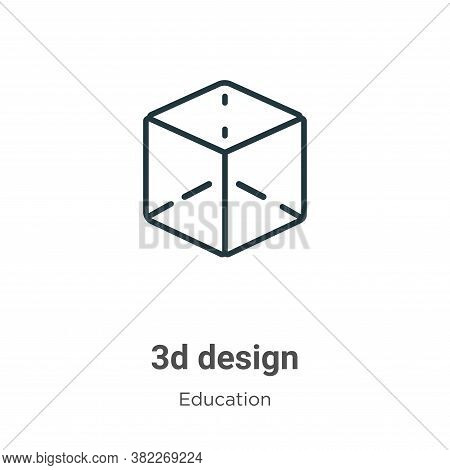 3d design icon isolated on white background from education collection. 3d design icon trendy and mod