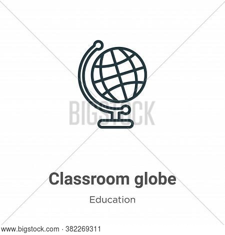 Classroom globe icon isolated on white background from education collection. Classroom globe icon tr