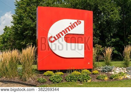 Cummings Manufacturing Facility Entrance Sign And Trademark Logo.