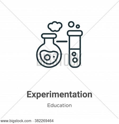 Experimentation icon isolated on white background from education collection. Experimentation icon tr