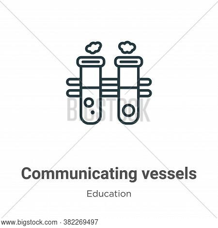 Communicating vessels icon isolated on white background from education collection. Communicating ves