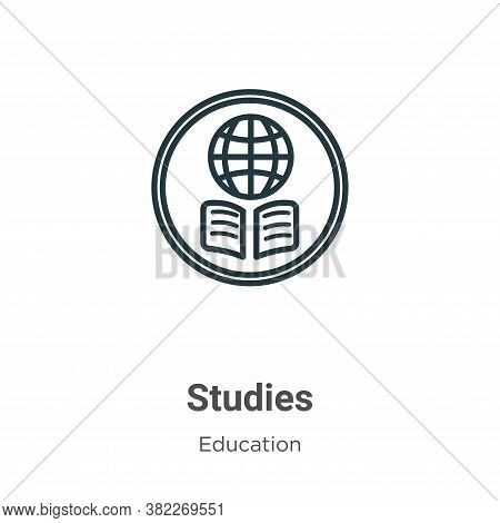 Studies icon isolated on white background from education collection. Studies icon trendy and modern