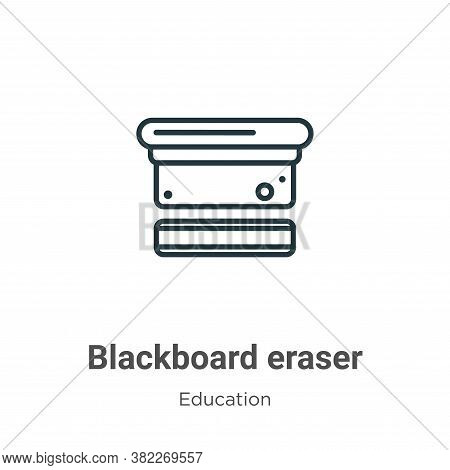 Blackboard eraser icon isolated on white background from education collection. Blackboard eraser ico