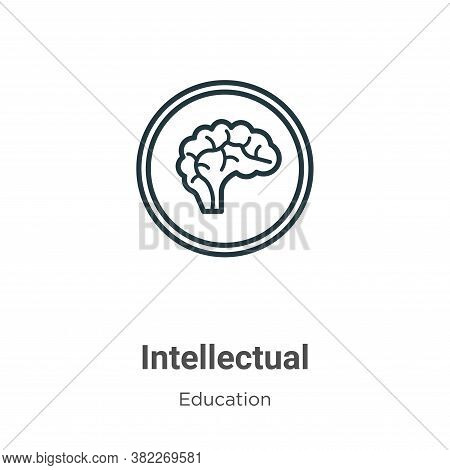 Intellectual icon isolated on white background from education collection. Intellectual icon trendy a
