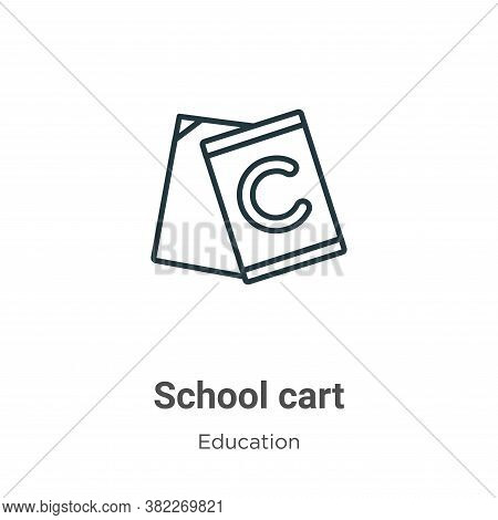School cart icon isolated on white background from education collection. School cart icon trendy and