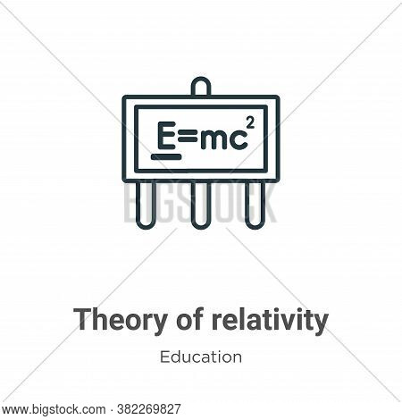 Theory of relativity icon isolated on white background from education collection. Theory of relativi