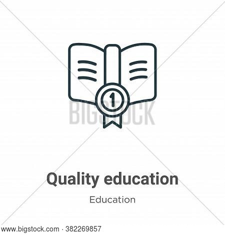 Quality education icon isolated on white background from education collection. Quality education ico