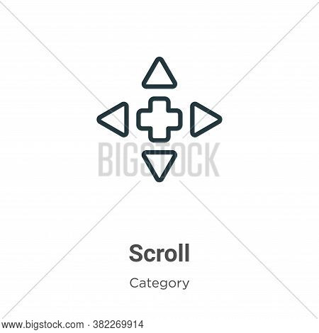 Scroll icon isolated on white background from cursor collection. Scroll icon trendy and modern Scrol