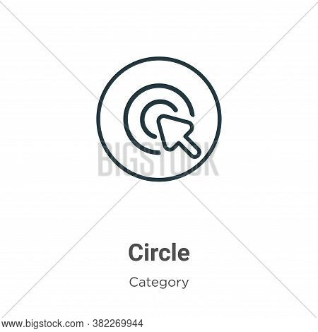 Circle icon isolated on white background from cursor collection. Circle icon trendy and modern Circl