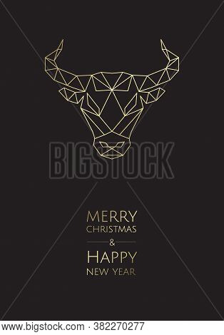 Symbol Of The Year, Bull. Sketch Silhouette Bull. Chinese Happy New Year 2021.