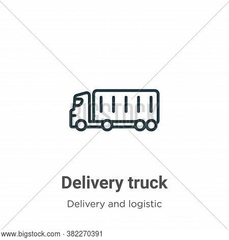 Delivery truck icon isolated on white background from delivery and logistic collection. Delivery tru