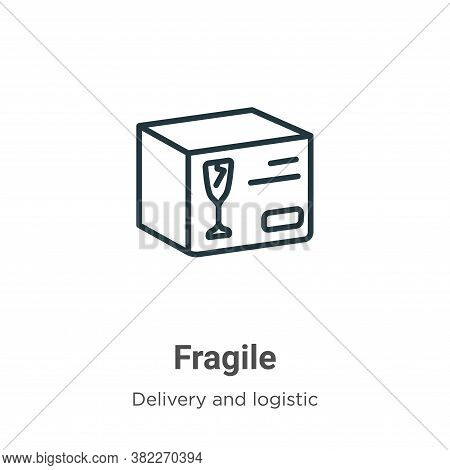 Fragile icon isolated on white background from delivery and logistic collection. Fragile icon trendy