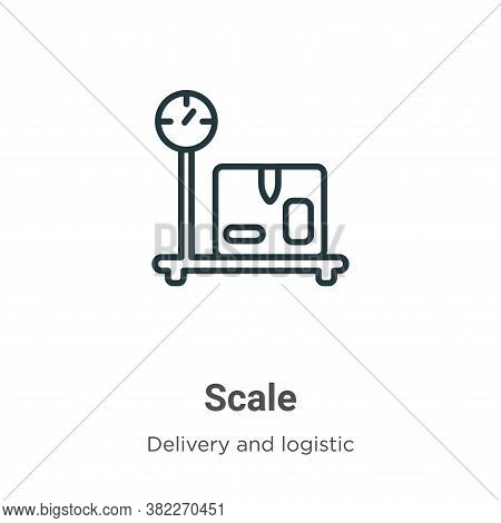 Scale icon isolated on white background from delivery and logistic collection. Scale icon trendy and