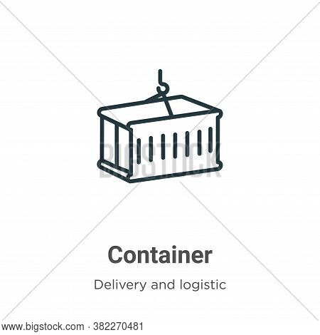 Container icon isolated on white background from delivery and logistic collection. Container icon tr