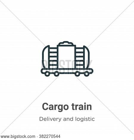 Cargo train icon isolated on white background from delivery and logistics collection. Cargo train ic