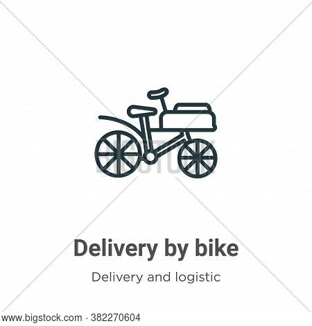 Delivery by bike icon isolated on white background from delivery and logistics collection. Delivery