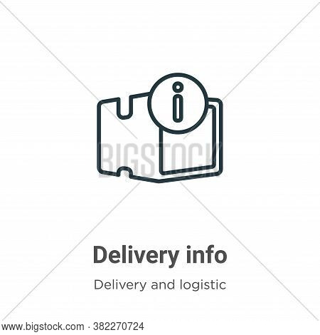 Delivery info icon isolated on white background from delivery and logistics collection. Delivery inf