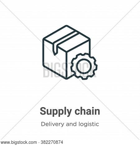Supply chain icon isolated on white background from delivery and logistics collection. Supply chain