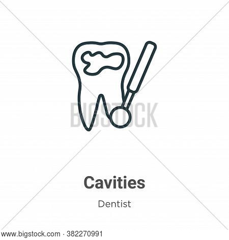 Cavities icon isolated on white background from dentist collection. Cavities icon trendy and modern