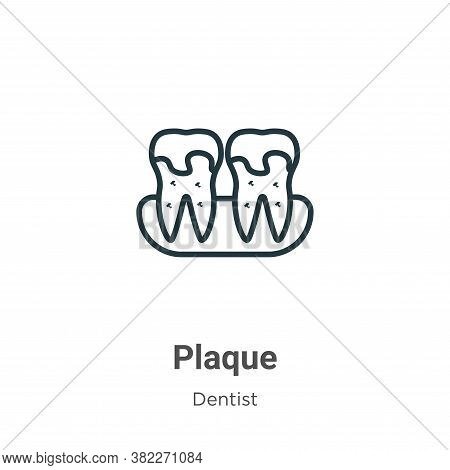 Plaque icon isolated on white background from dentist collection. Plaque icon trendy and modern Plaq