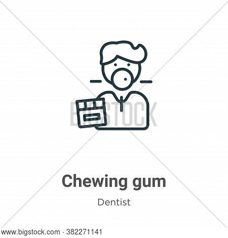 Chewing gum icon isolated on white background from dentist collection. Chewing gum icon trendy and m