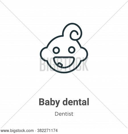 Baby dental icon isolated on white background from dentist collection. Baby dental icon trendy and m