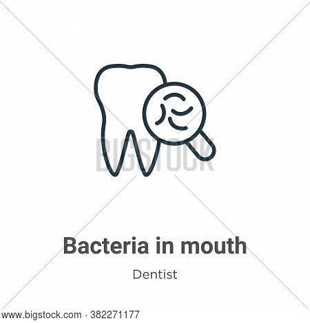 Bacteria in mouth icon isolated on white background from dentist collection. Bacteria in mouth icon