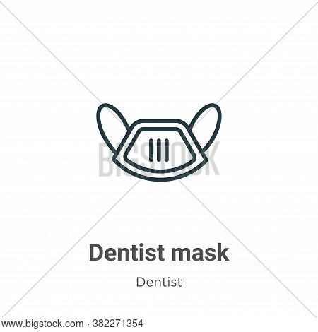 Dentist mask icon isolated on white background from dentist collection. Dentist mask icon trendy and