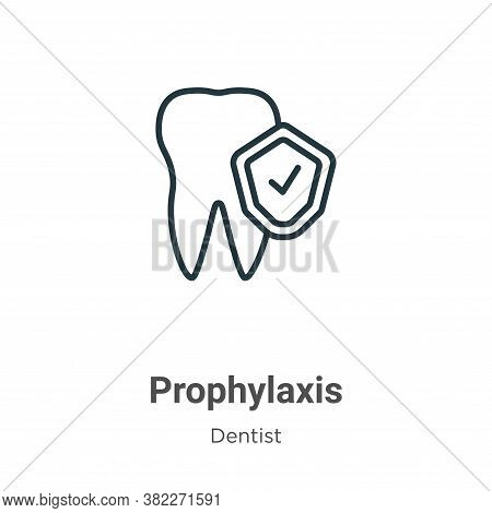 Prophylaxis icon isolated on white background from dentist collection. Prophylaxis icon trendy and m